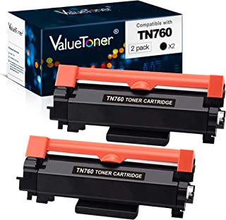 Best Valuetoner Compatible Toner Cartridge Replacement for Brother TN760 TN-760 TN730 TN-730 High Yield for HL-L2350DW DCP-L2550DW HL-L2395DW Hl-L2390DW HL-L2370DW Printer (2 Black) Review