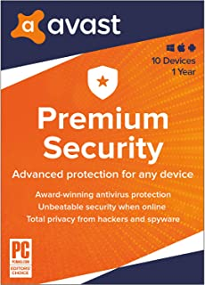Sponsored Ad - Avast Premium Security 2021 | Antivirus Protection Software | 10 Devices, 1 Year [PC/Mac/Mobile Download]