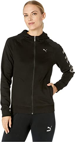 Athletic Full Zip Fleece Hoodie