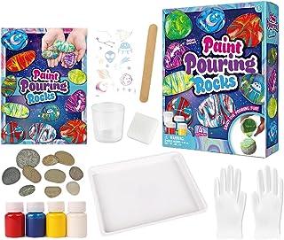 raspbery Kit de peinture de roche pour enfants peinture à la main en pierre artisanat pour enfants ensemble d'art pour fil...