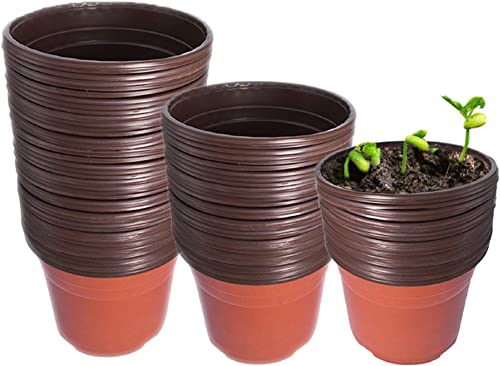"""lowest labworkauto 8.0"""" Seedling Pots Plastic Plant outlet sale Pots Seedling Cups Nursery Pots Plant Container Fit 2021 for Seeds Germination, Seedlings Growing, Succulents Planting, Seeds Starting 100 Pcs online"""