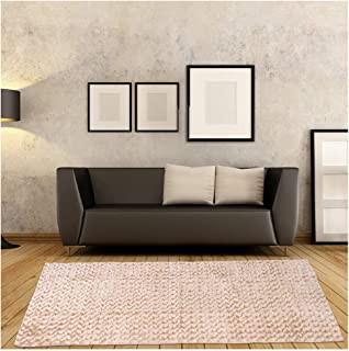 Furug Area Rugs for Bedroom,Super Soft Indoor Modern Rugs for Living Room Plush Carpet for Bedside Toddlers Play Sofa Mat Anti-Skid Floor Rugs for Home Decor,4.92ftx2.46ft Khaki