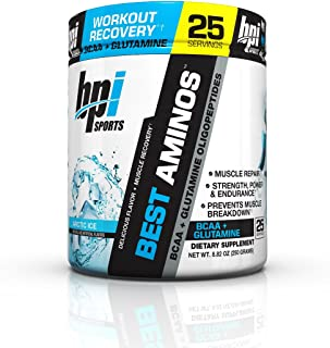 BPI Sports Best Aminos BCAA and Glutamine Supplement, Arctic Ice, 8.82 Ounce