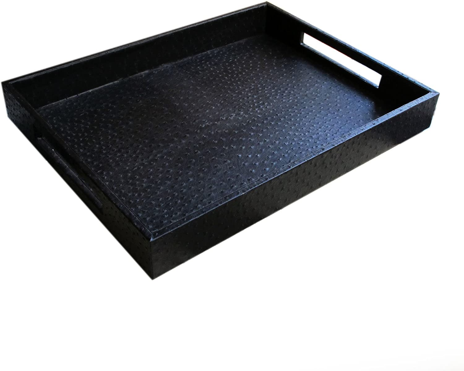 American Atelier Ostrich Faux OFFicial Black Tray Leather famous
