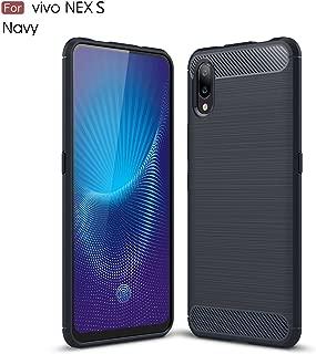 vivo NEX S Case,TenYll TPU Soft Cover Case [Ultra Silm] [shockproof] [Durable] Silicone Cover for vivo NEX S -Dark Blue