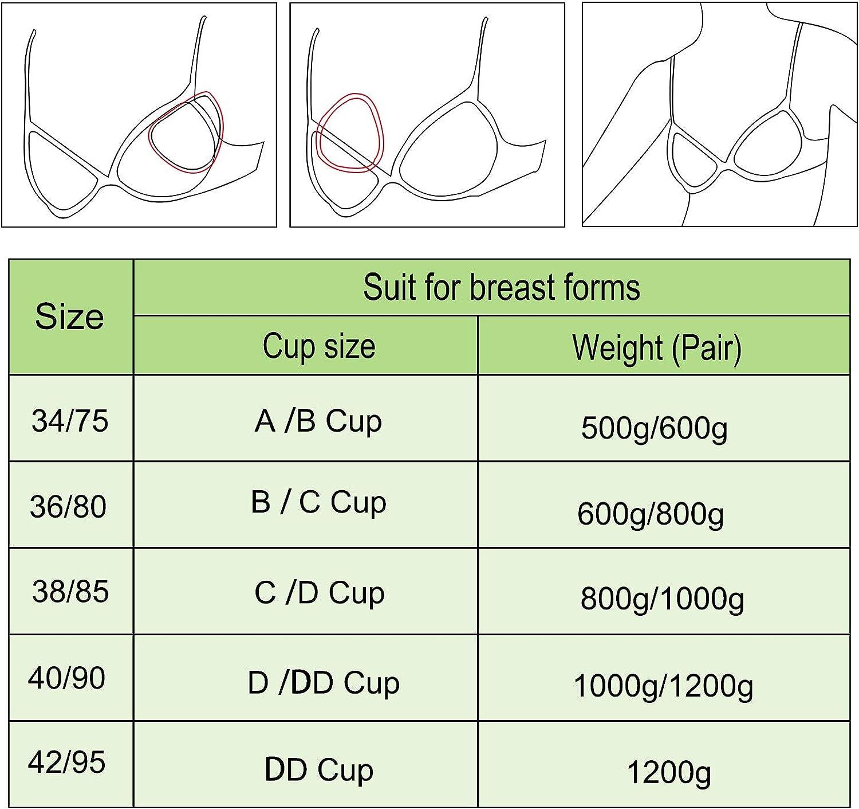 Vollence Silicone Breast Form Pocket Bra for Mastectomy Crossdresser Cosplay