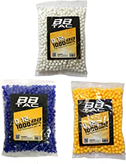 BBTac Airsoft BBs .12g Ammo 6mm (3,000 Round Bag, Multi Colors)