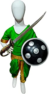CHANDU KI DUKAN Rani BAI Dress Green Color 3-4 YRS
