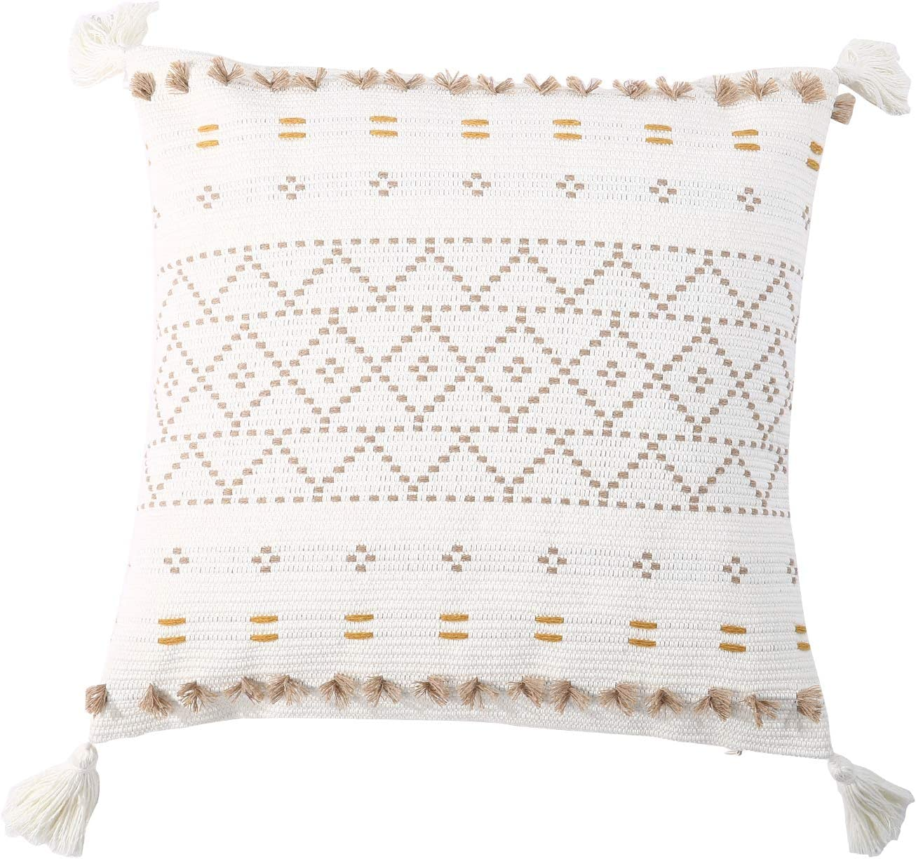 Moroccan Boho Decorative Throw Pillow Cheap mail order shopping Cover service 18X18 So Inch Super