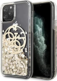 CG Mobile Pc/TPU Hard Case for iPhone 11 Pro Cell Phone Cover with Saffiano Gold Glitter Clear Easy Snap-On Shock Absorpti...