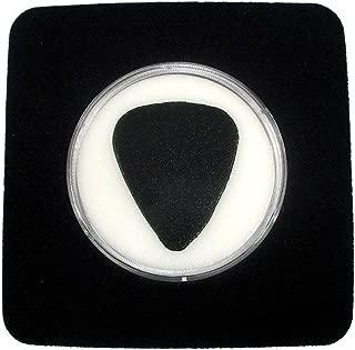 Black Display Card For Guitar Pick - White Pick Holder & Acrylic Case