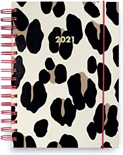 Kate Spade New York Large 2021 Annual Planner Weekly & Monthly, 12 Month Hardcover Planner Dated Jan 2021 - Dec 2021 with Stickers, Pocket, Tab Dividers, Notes/Holiday Pages, Forest Feline