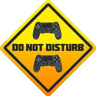 Level 33 Graphics PS4 Do Not Disturb – Regalo de juego – Controladores de PS4 – Adhesivo para puerta de dormitorio infanti...