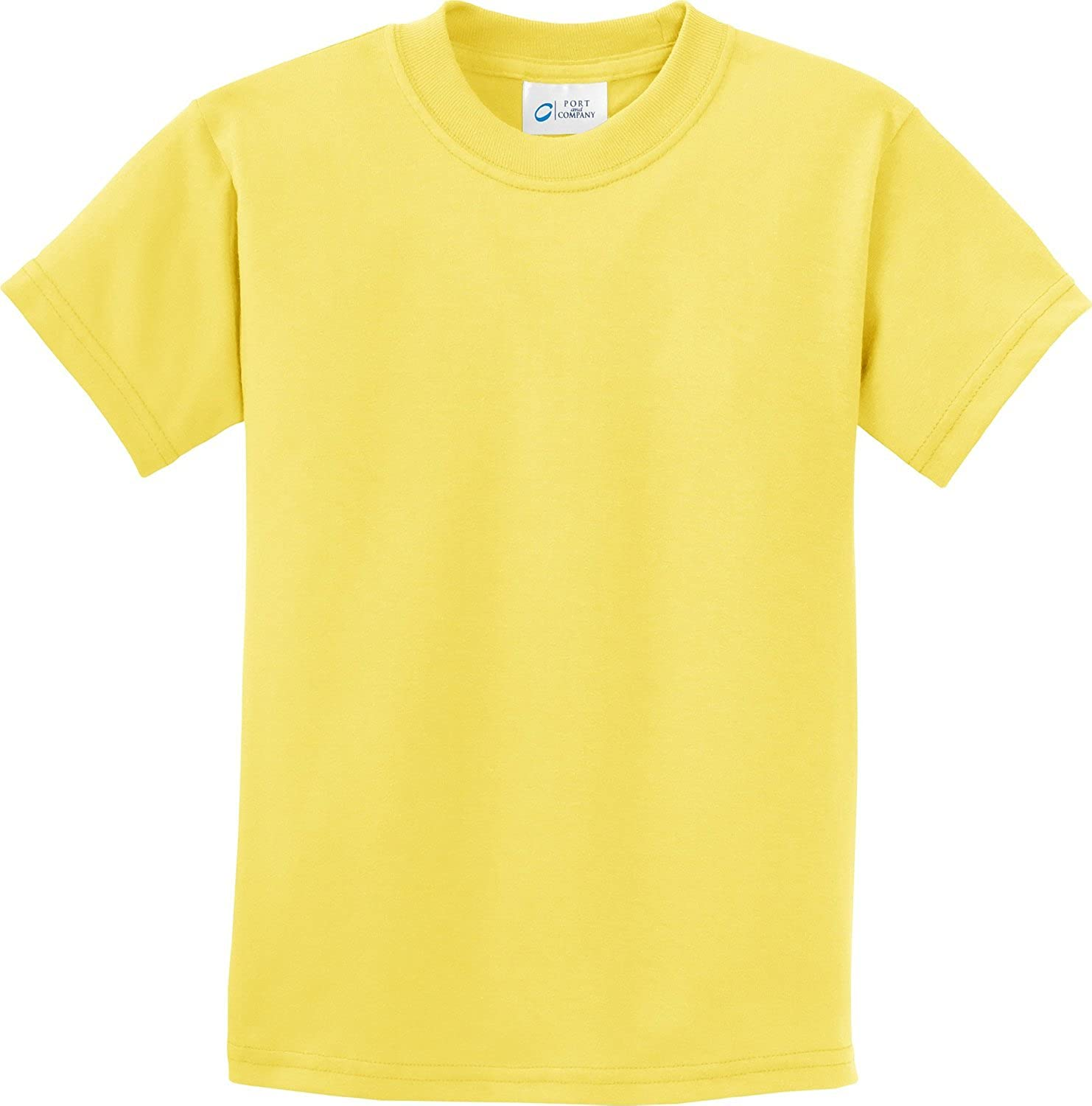 Port & Company - Youth Essential T-Shirt. - Yellow - S
