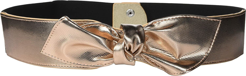 Lodis Accessories Women's Knot Stretch Belt pink gold MD LG