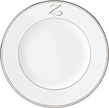 Lenox Federal Platinum Script Monogram Dinnerware Dinner Plate, Z
