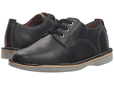 Florsheim Kids Navigator Plain Toe Oxford Jr. (Toddler/Little Kid/Big Kid) (Black Crazy Horse) Boy