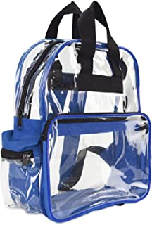 ProEquip Travel Bag Clear Unisex Transparent School Security Backpack (Royal)