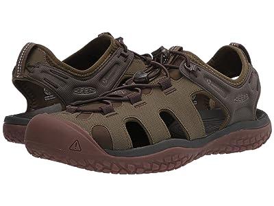 KEEN Solr Sandal (Dark Olive/Taupe) Men