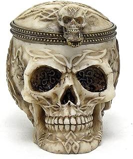 Bellaa 26645 Celtic Skull Box Ossuary Jewelry Stash Storage