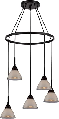 Woodbridge Lighting 13246MEBLE-C60601 Chandelier, Bronze