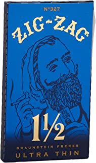 12 Booklets Zig Zag Ultra Thin Blue Cigarette Rolling Paper RYO 1 1/2 Gummed Paper