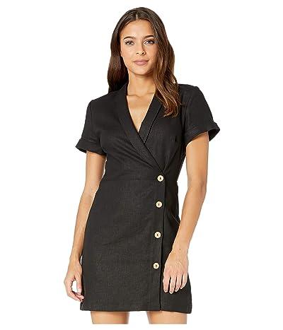 BCBGeneration Faux Wrap Button Side Dress TCC6206205 (Black) Women