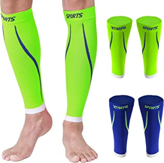 Sponsored Ad - Calf Compression Sleeves Men Sports Socks Women Sock for Shin Support Relief Leg Vein 2 Pairs 15-20mmHg Breathable Brace Medical Wrap