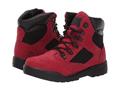 Timberland Kids 6 Fabric/Leather Field Boot (Big Kid) (Red Waterbuck) Boys Shoes