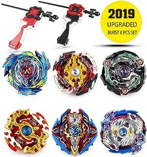 Innoo Tech Battling Top Bey Burst Set of 6pcs | Fighter Gyroscope 4D Fusion Model | Burst Evolution Combination Series 4D | 2 throwers Set with Launcher | Best Gift for Children Kids Toys