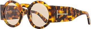 Tatiana Round Sunglasses FT0603 55E 47 | Havana Frame |...