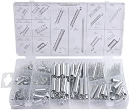 Accessbuy 200pcs Tools Spring Assortment Steel Zinc Plated Compression and Extension for Shops and Home Repairs