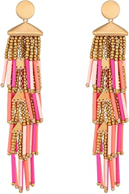 Beaded Fringe Drama Earrings
