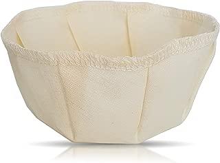Hemp and Organic Cotton Reusable Cloth Coffee Filter - Drip Basket - Environmentally Friendly! ( Sz 4, 8-12 Cups)