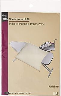 Dritz Sheer Press Cloth-22-inch x 30-inch, 100% Silk Organza, 22 x 30