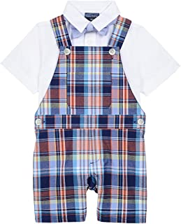 Boys' 3-Piece Shortall, Bodysuit, and Bow Tie Set