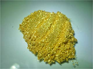 Bling IT 24 Karat -Sparkling Mica (Epoxy, Resin Jewelry, Color, Art Craft Projects) Bright Yellow Gold 30 ml jar