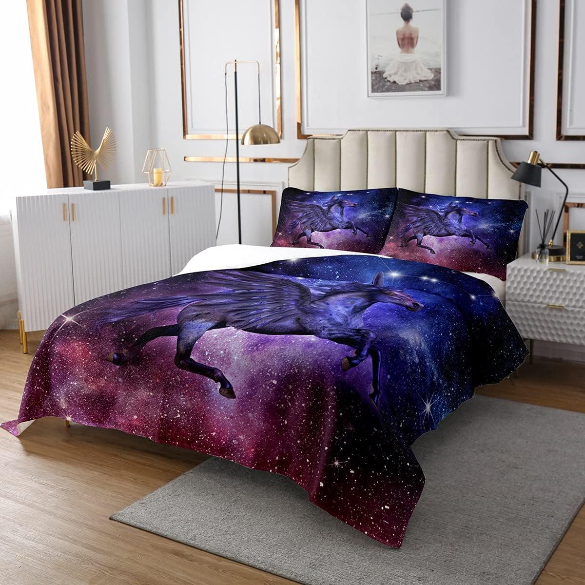 Erosebridal Horse Bedspread shipfree for Kids Teens Girls Super special price Boys Psychedeli