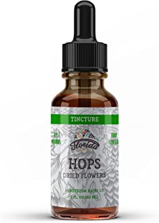 Hops Tincture, Organic Hops Extract Drops (Humulus Lupulus) Dried Flowers