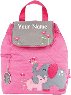 Stephen Joseph Personalized Quilted Elephant Backpack Book Bag