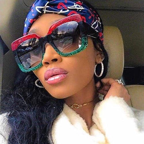 36ee2b2e2737 Mitlfuny Women Fashion Square Oversized Luxury Gradient Lens Sunglasses  Retro Vintage Large Frame Eyewear (C