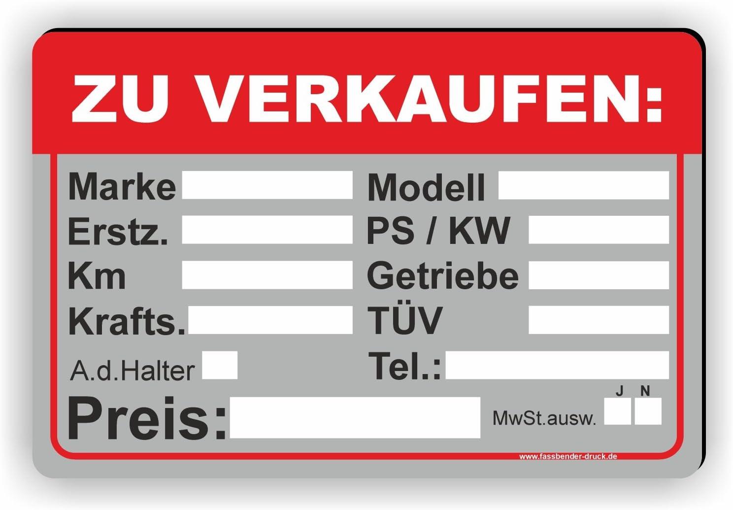3 Auto Verkaufsschilder Vorlagen Fur Word Convictorius 9