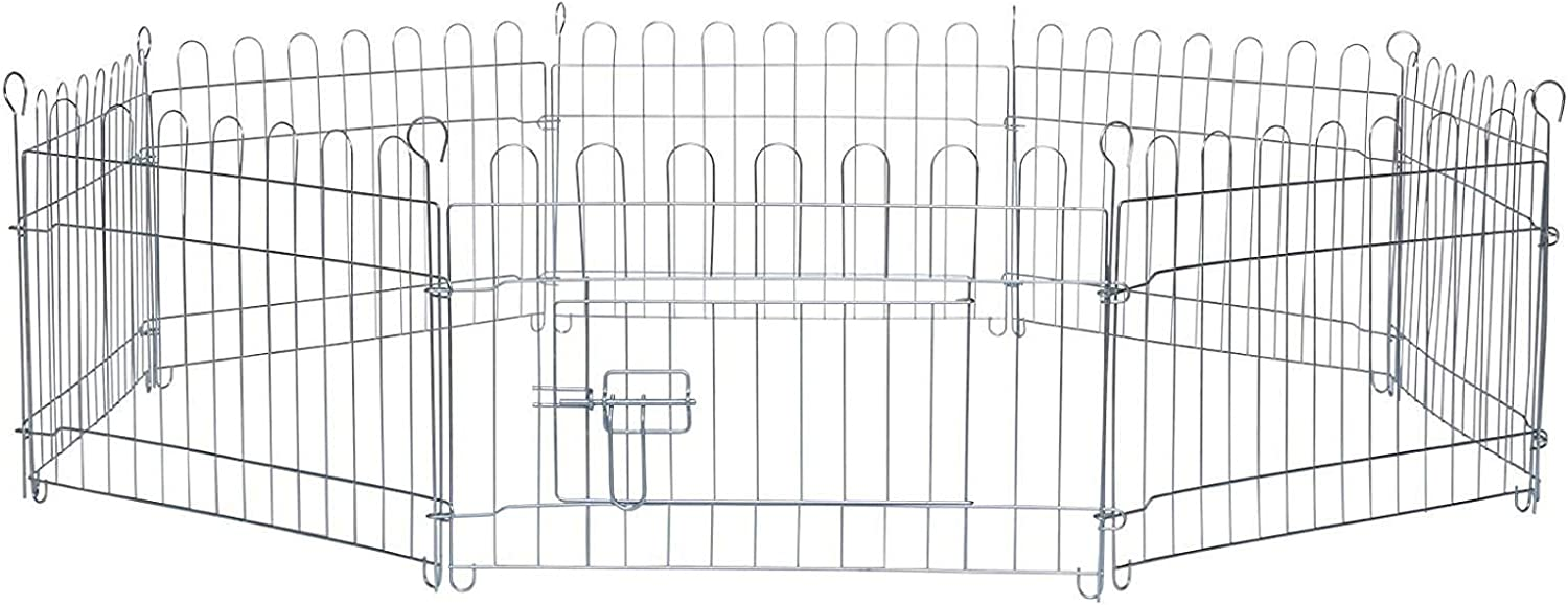 Dibea Puppy playpen/Foldable Enclosure, Run cage for Smalls Dogs and Pets