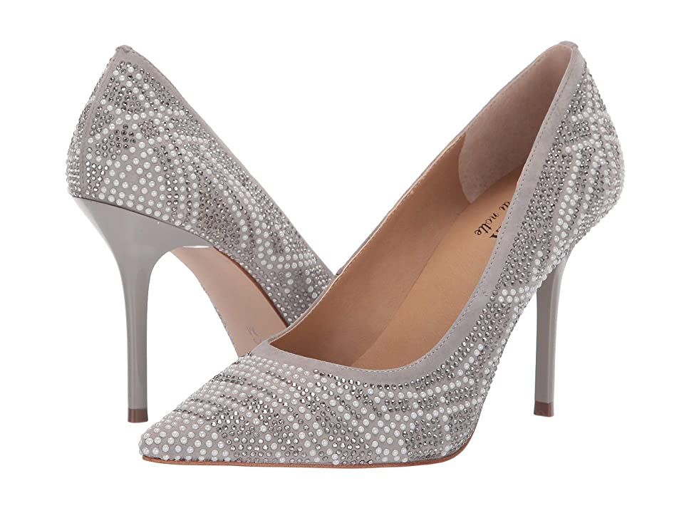 Vaneli Benno (Light Grey Suede/Grey/White Mix Studs) High Heels