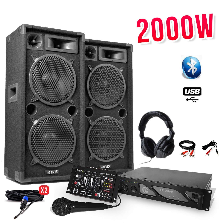 Pack DJ Sono 2000 W – 2 altavoces 2 x 10