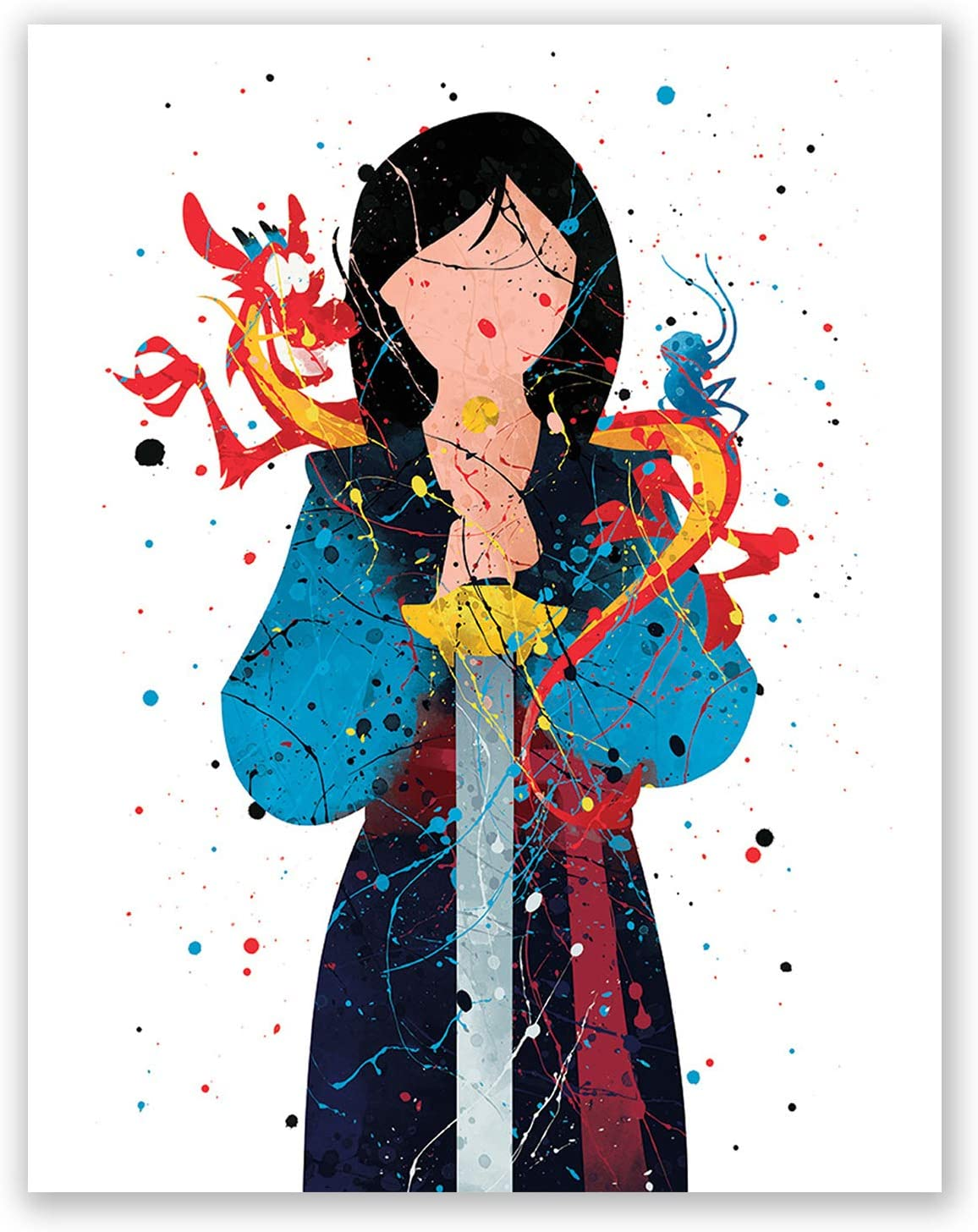 Amazon Com Mulan Poster Print Princess Wall Art Girls Bedroom Decor Birthday Party Decoration Idea Nursery Theme Picture 8x10 Posters Prints