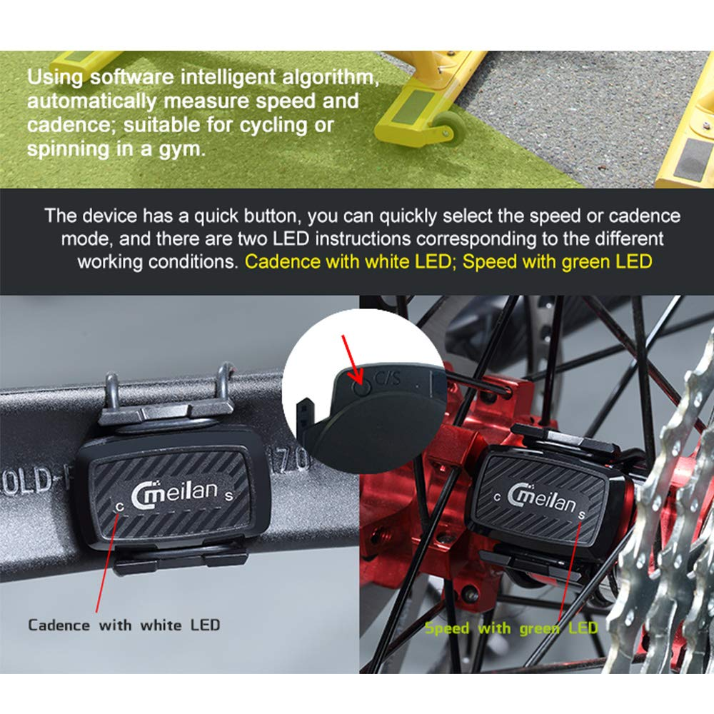 Festnight - Sensor de Velocidad y cadencia para Bicicleta Spinning ...