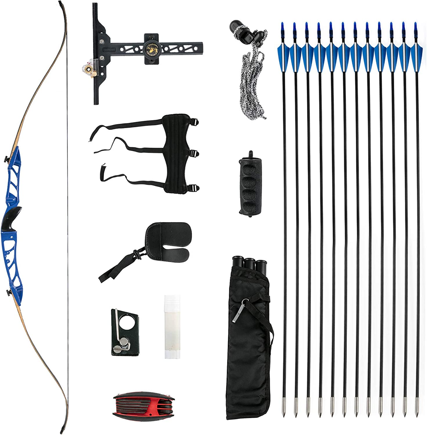 Sales for sale bkisy Credence Recurve Bow Set 20 28 Aluminum 36 32 38lbs Archery All