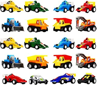 TOPTOY Christmas Xmas Gifts Present for 3-6 Year Old Boys Girls, Pull Back Car Assorted Construction Vehicles and Race Car Toys for 3-6 Year Old Boy Girl Stocking Stuffers Stocking Fillers TTUSCR20