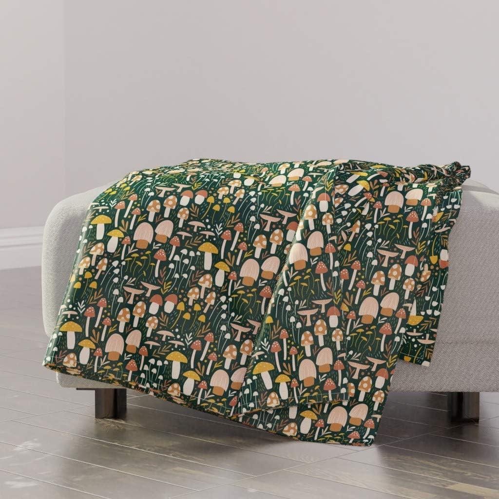 Spoonflower Throw Blanket Ranking TOP3 Woodland Mushrooms NEW Meadow To Mushroom